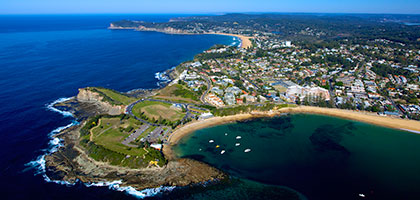 My Heli helicopter joy flight over Terrigal Beach, Central Coast